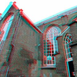 Achterzijde Augustijnenkkerk Dordrecht 3D