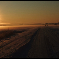 Krakend koude zonsopgang (- 22)