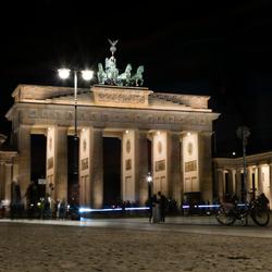 Lichtenspel voor de Brandenburger Tor