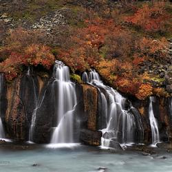 Hraunfossar, IJsland