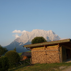Uitzicht naar de Zugspitze