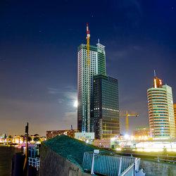 Metropool Rotterdam laat in de Avond