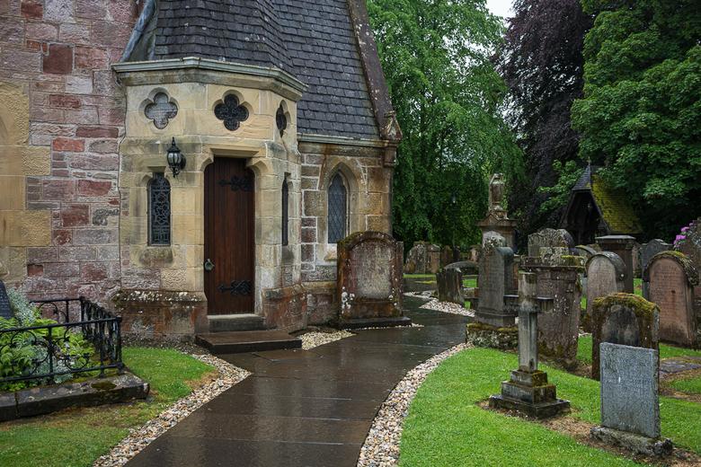 Schotland 19 - De mooiste begraafplaats van Schotland.