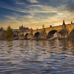 Praag Charles Bridge en St Vitus Cathedral
