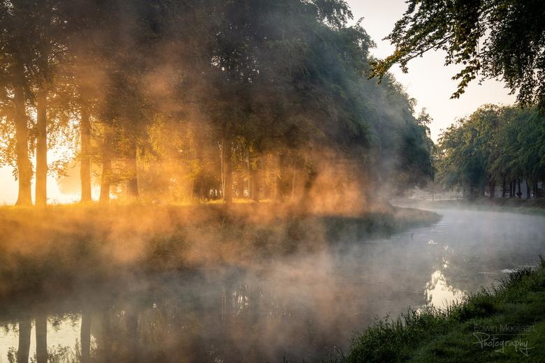 Mistige ochtend - Een mooie ochtend met flink wat mist boven de rivieren.<br />