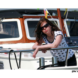 Girl on a Yacht