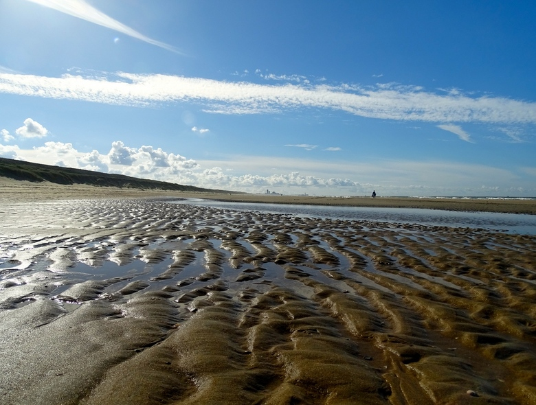 golvend zand - strandwandeling Wassenaarse Slag