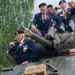 Veteranen genieten van het uitzicht