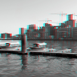 Rijnhaven Rotterdam 3D B&W