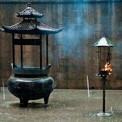 Tempel in de Regen