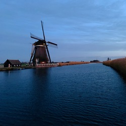 Mill by sunset