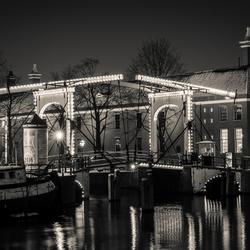 Brug Amsterdam Hermitage BW