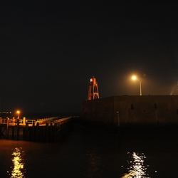 nachtfoto Keizersbolwerk Boulevard Vlissingen