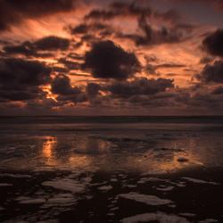 Zonsondergang bij Ter Heijde aan zee