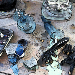 tafel van glaskunstenaar