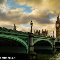 Big Ben en Westminster Bridge Londen
