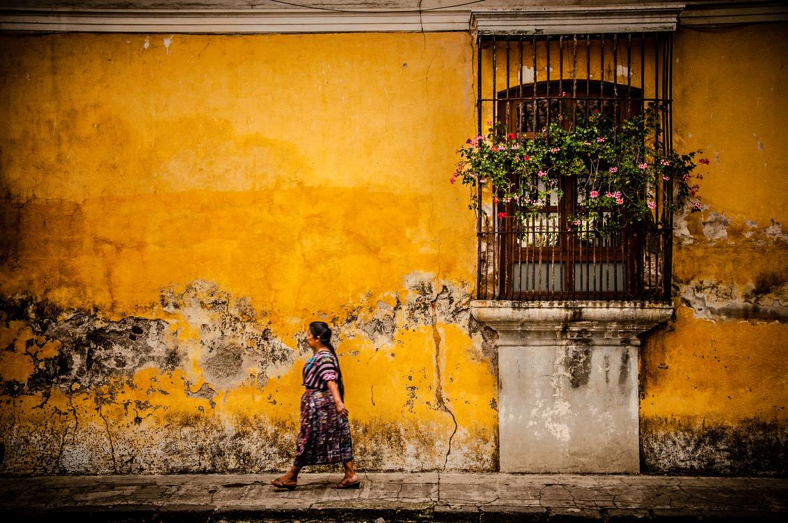 Antigua in yellow, Guatemala