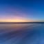 Terugtrekkend zeewater in beeld