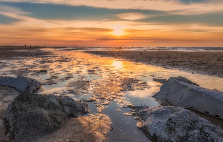 Sunset aan de kust