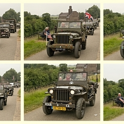 Collage van WillysMB jeeps.