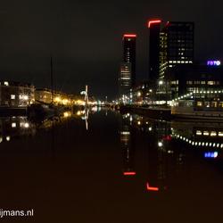 Achmeatoren bij nacht in Leeuwarden