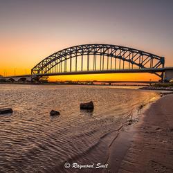 sunset oude ijsselbrug Zwolle 21-04-20
