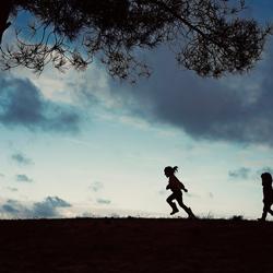 silhouette wandeling