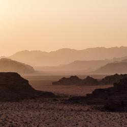Zonsondergang Wadi Rum, Jordanië