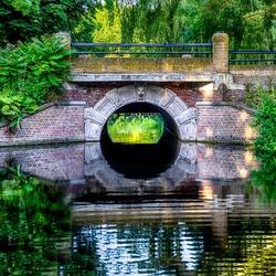 Drakenbrug in hetRijsterborgherpark in Deventer.