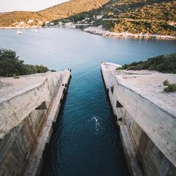 Bunker zwemmen.