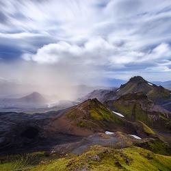 Zandstorm nabij Emstrur, Ijsland
