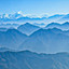nepal: vlucht boven de Himalaya