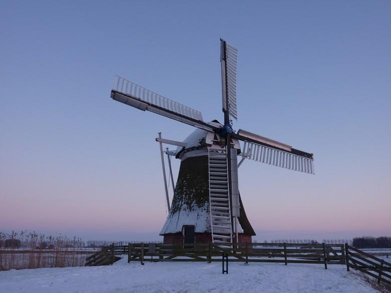 Molen Hoeksmeer - Molen Hoeksmeer met een klein laagje sneeuw