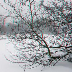 Ommoord Rotterdam in sneeuw 3D