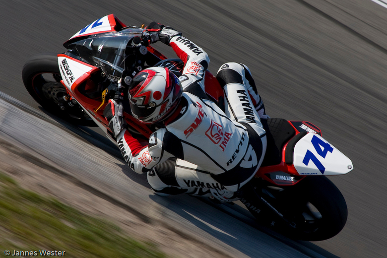 Swen Ahnendorp - Swen Ahnendorp, rijdend in de Dutch supersport,<br /> Tijdens ONK KNMV racing days op het TT circuit Assen
