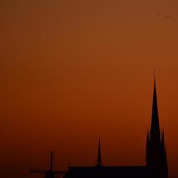 Kerk en Molen in Woerden