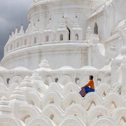 Witte Tempel Myanmar