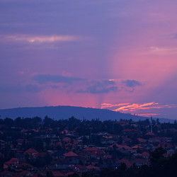 Sunset in Kigali
