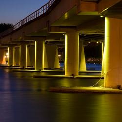 verlichting boven water