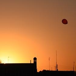 Ondergaande zon in Khiva