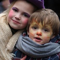 Broertje en zusje...tijdens Dickens Festijn 2012