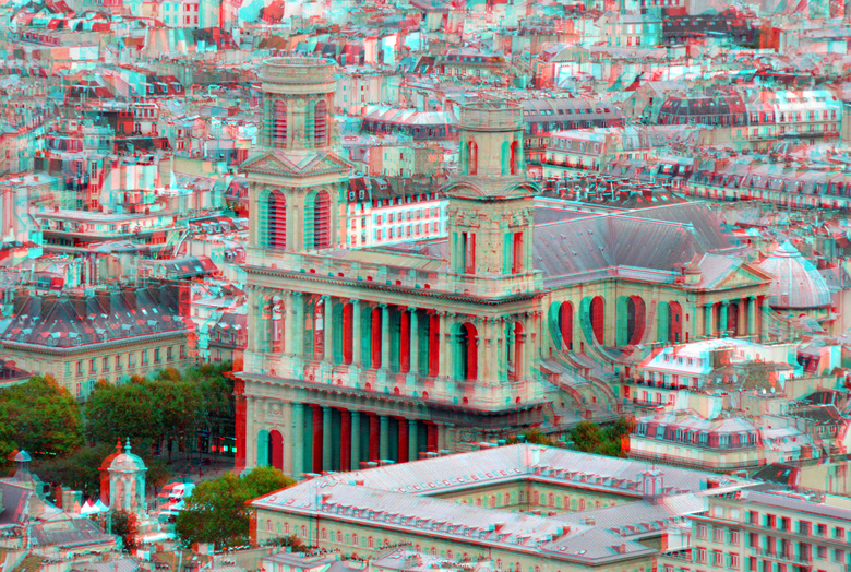 View from Tour Montparnasse Paris 3D - View from Tour Montparnasse Paris 3D<br /> anaglyph stereo red/cyan