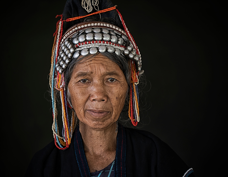 Akha vrouw - Akha woman, Yunnan, China