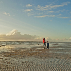 winter strand wandeling