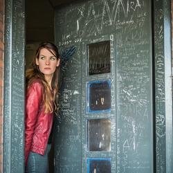 The prison door...