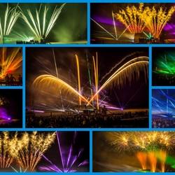 Vuurwerk en lasershow op het strand van Ouddorp.
