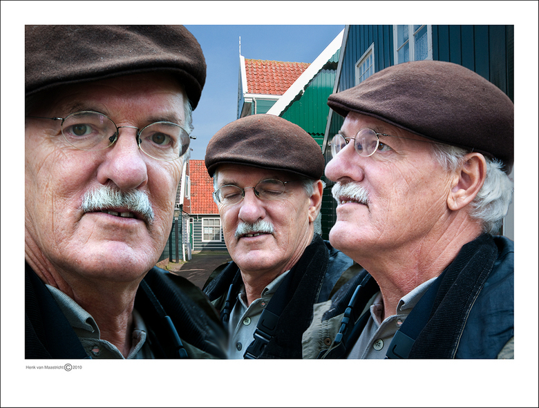 Broers - Kwamen Fred zijn broers nog tegen daar in Marken,1 eiig dat kan niet missen.wilden wel even op de foto.