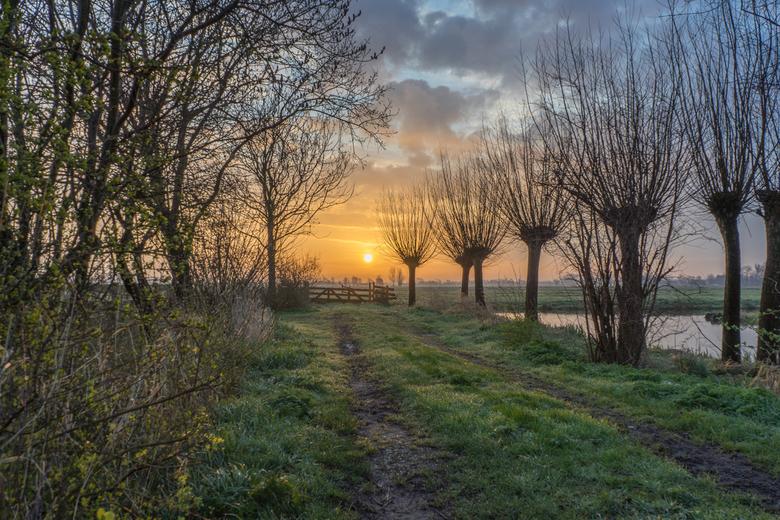 Koude zonsopkomst in de polder - Foto gemaakt tussen Bergambacht en Stolwijk. Gemeente Krimpenerwaard, Groen Hart, Zuid Holland!