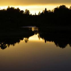 zonsondergang Orsa