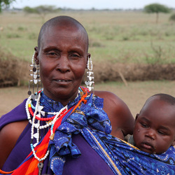 Masai oma en kleinkind